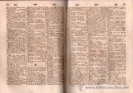 Diccionarios antiguos: NUEVO DICCIONARIO DE LAS LENGUAS ESPAÑOLAS Y ALEMANA POR FRANCESON - DOS TOMOS - Foto 10 - 25707174