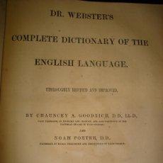 Diccionarios antiguos: DICCIONARIO DE LA LENGUA INGLESA. 1880. ESPECTACULAR - GRAN TAMAÑO. Lote 25964390