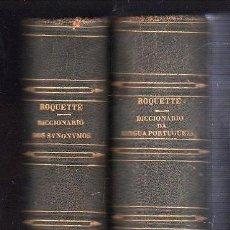 Diccionarios antiguos: DICCIONARIO DE LENGUA PORTUGUESA Y DE SINONIMOS DEL PORTUGUES. 2 TOMOS - PARIS 1860. Lote 26578633