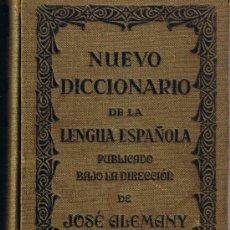 Diccionarios antiguos: NUEVO DICCIONARIO DE LA LENGUA ESPAÑOLA - JOSE ALEMANY - 1935 - EDIT.RAMON SOPENA. Lote 27946827