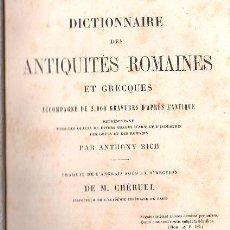 Diccionarios antiguos: DICTIONAIRE DES ANTIQUIES ROMAINES - PARIS 1861. Lote 28087185