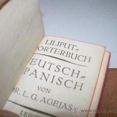Diccionarios antiguos: DICCIONARIO LILIPUT...ALEMAN - ESPAÑOL.. Lote 28544040