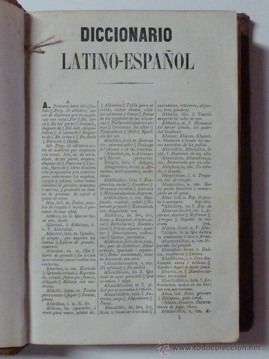 Diccionarios antiguos: COMPLETÍSIMO DICCIONARIO LATINO-ESPAÑOL - Valbuena - 1865 - Foto 3 - 28550729