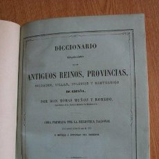 Diccionarios antiguos: DICCIONARIO BIBLIOGRÁFICO-HISTÓRICO DE LOS ANTIGUOS REINOS, PROVINCIAS, CIUDADES, VILLAS,.... Lote 28664403