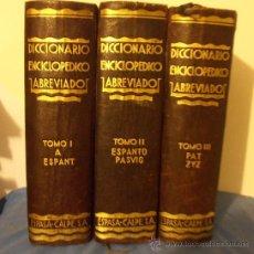 Diccionarios antiguos: DICCIONARIO ENCICLOPEDICO ABREVIADO, ESPASA CALPE S.A.. Lote 28989120