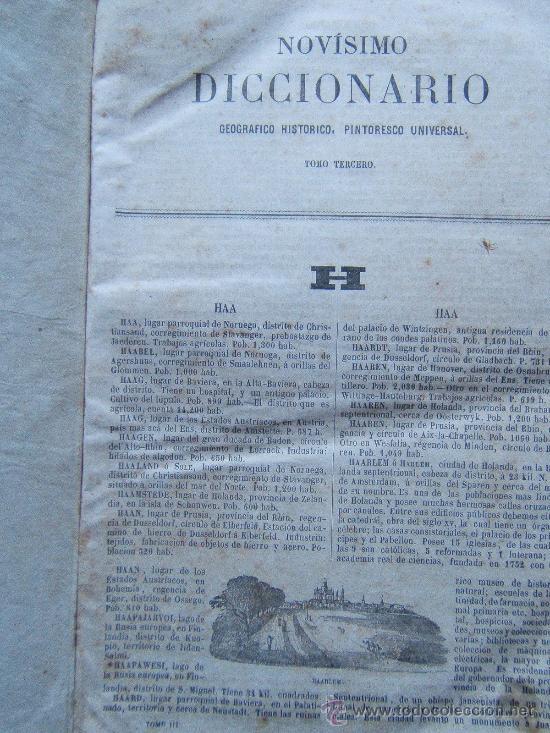 Diccionarios antiguos: NOVISIMO DICCIONARIO GEOGRAFICO, HISTORICO, UNIVERSAL...- (VER FOTOS TOMOS 2-3-4. FALTA EL 1) - 1864 - Foto 6 - 30882002