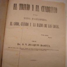 Livros antigos: JOAQUÍN BASTÚS, EL TRIVIO Y EL CUADRIVIO.... Lote 31921318
