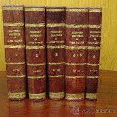 Diccionarios antiguos: DICCIONARIO INDUSTRIAL (ARTES Y OFICIOS DE EUROPA Y AMERICA).- 6 TOMOS EN 5 VOL. SXIX. Lote 32031905
