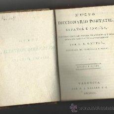 Diccionarios antiguos: NUEVO DICCIONARIO PORTATIL ESPAÑOL INGLES.1803. Lote 33011561