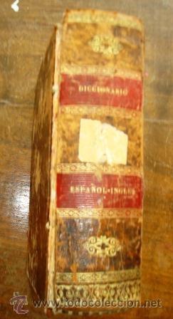 DICCIONARIO ESP-ING, DEL AÑO 1872, ENCUADERNADO EN PIEL. (Libros Antiguos, Raros y Curiosos - Diccionarios)