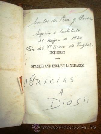 Diccionarios antiguos: DICCIONARIO ESP-ING, DEL AÑO 1872, ENCUADERNADO EN PIEL. - Foto 5 - 33122254