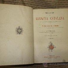 Diccionarios antiguos: 2026- DICCIONARI DE LA LLENGUA CATALANA. PERE LABERNIA EDIT. ESPASA. 1920 ? 2 VOL.. Lote 34613881