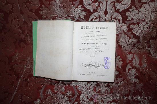 5987- EL PANTEON UNIVERSAL. DICCIONARIO HISTORICO. WENCESLAO AYGUALS. IMP DE AGUALS. 1854. (Libros Antiguos, Raros y Curiosos - Diccionarios)