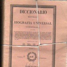 Diccionarios antiguos: DICCIONARIO HISTÓRICO O BIOGRAFÍA UNIVERSAL,11 TMS, BARCELONA LIBRERÍA DE NARCISO OLIVA 1830-34. Lote 36105416