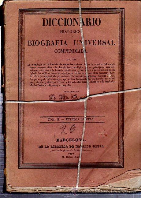 Diccionarios antiguos: DICCIONARIO HISTÓRICO O BIOGRAFÍA UNIVERSAL,11 TMS, BARCELONA LIBRERÍA DE NARCISO OLIVA 1830-34 - Foto 11 - 36105416
