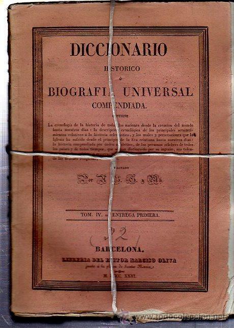 Diccionarios antiguos: DICCIONARIO HISTÓRICO O BIOGRAFÍA UNIVERSAL,11 TMS, BARCELONA LIBRERÍA DE NARCISO OLIVA 1830-34 - Foto 9 - 36105416