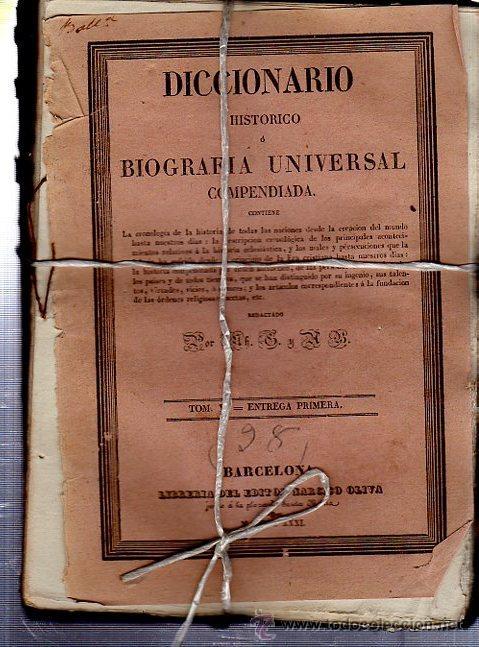 Diccionarios antiguos: DICCIONARIO HISTÓRICO O BIOGRAFÍA UNIVERSAL,11 TMS, BARCELONA LIBRERÍA DE NARCISO OLIVA 1830-34 - Foto 8 - 36105416