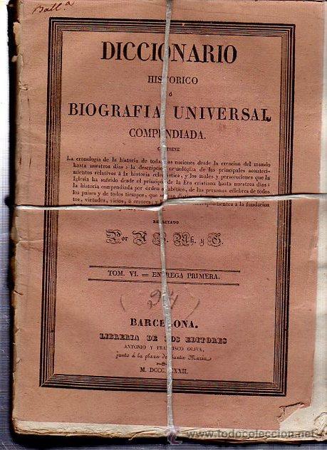 Diccionarios antiguos: DICCIONARIO HISTÓRICO O BIOGRAFÍA UNIVERSAL,11 TMS, BARCELONA LIBRERÍA DE NARCISO OLIVA 1830-34 - Foto 7 - 36105416