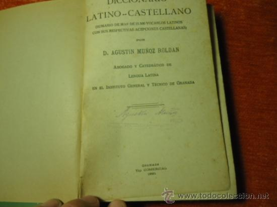 Diccionarios antiguos: diccionario latino español muñoz roldan 1921 granada 273 paginas - Foto 2 - 36691437