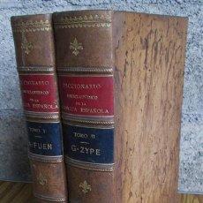 Diccionarios antiguos: 2 TOMOS .. DICCIONARIO ENCICLOPÉDICO DE LA LENGUA ESPAÑOLA .. GASPAR Y ROIG 1853 - 1855. Lote 36891832