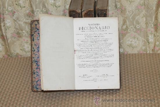 3127- NOVISIMO DICCIONARIO GEOGRAFICO. VV.AA. EDIT. LIBRERIA ESPAÑOLA. 1863/1868. 4 TOMOS. (Libros Antiguos, Raros y Curiosos - Diccionarios)