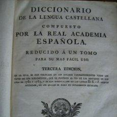 Diccionarios antiguos: DICCIONARIO DE LA LENGUA CASTELLANA 1791 867PGS REAL ACADEMIA MIDE 28MSX36. Lote 37170776