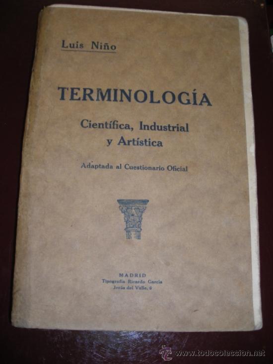 Terminología Científica Industrial Y Artística Comprar