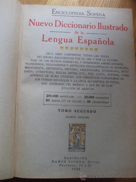 Diccionarios antiguos: DICCIONARIO ILUSTRADO SOPENA 1930. 2 tomos - Foto 9 - 38605883