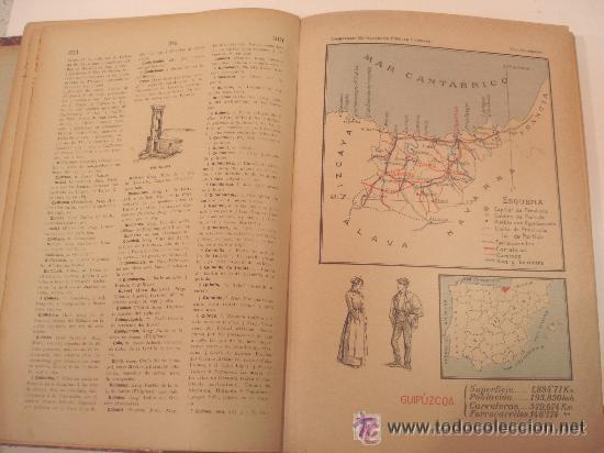 Diccionarios antiguos: 1890.- NOVISIMO DICCIONARIO POPULAR ILUSTRADO DE LA LENGUA CASTELLANA. 5 TOMOS. COMPLETO. - Foto 4 - 38915786