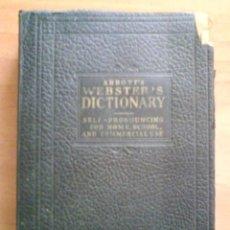 Diccionarios antiguos: WEBSTER´S DICTIONARY OF THE ENGLISH LENGUAGE. Lote 39477166