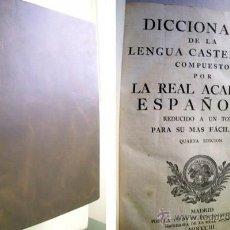 Diccionarios antiguos - DICCIONARIO DE LA LENGUA CASTELLANA. REAL ACADEMIA ESPAÑOLA. 1803 - 40042633