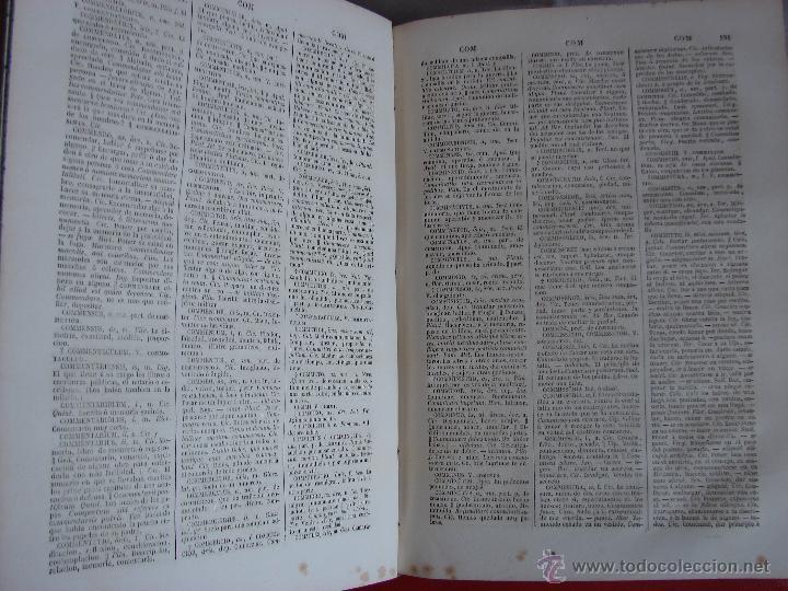 Diccionarios antiguos: VALBUENA REFORMADO. DICCIONARIO LATINO-ESPAÑOL. 1853. MARTINEZ LOPEZ - Foto 3 - 40844740