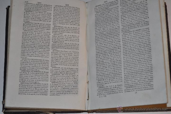 Diccionarios antiguos: Diccionario Geográfico-Estadístico de España y Portugal, de dicado al rey Nuestro Señor. RM64097 - Foto 3 - 40942447