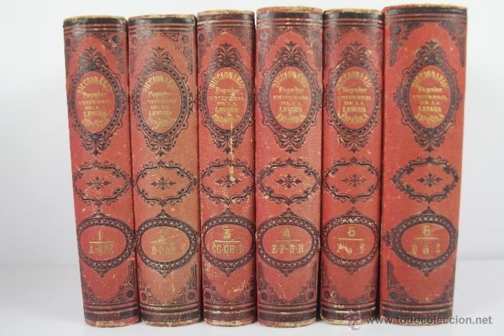 Diccionarios antiguos: 4190- DICCIONARIO POPULAR UNIVERSAL DE LA LENGUA ESPAÑOLA. LUIS P. DE RAMON. LIB. RELIGIOSA. 1885. - Foto 3 - 40985859