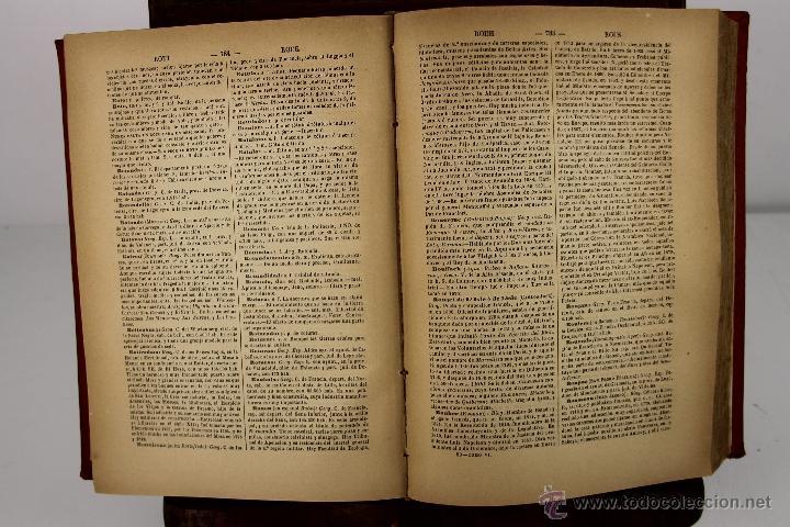 Diccionarios antiguos: 4190- DICCIONARIO POPULAR UNIVERSAL DE LA LENGUA ESPAÑOLA. LUIS P. DE RAMON. LIB. RELIGIOSA. 1885. - Foto 5 - 40985859