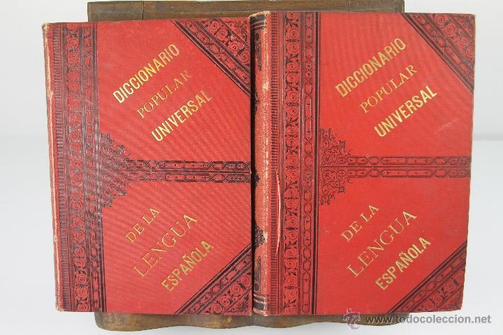 Diccionarios antiguos: 4190- DICCIONARIO POPULAR UNIVERSAL DE LA LENGUA ESPAÑOLA. LUIS P. DE RAMON. LIB. RELIGIOSA. 1885. - Foto 6 - 40985859