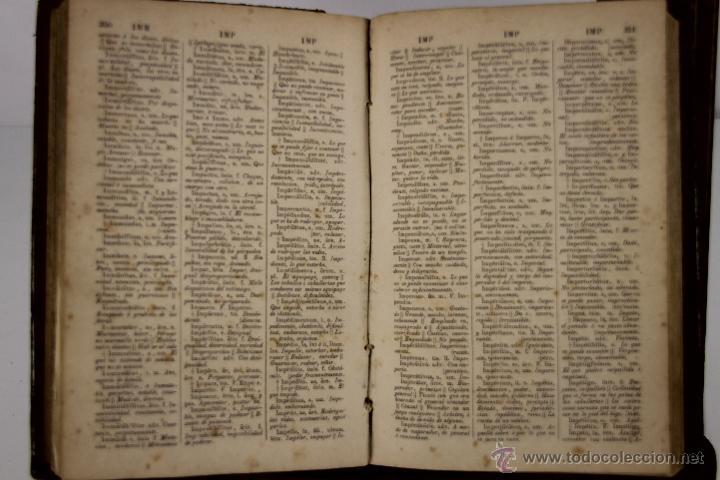 Diccionarios antiguos: 4201- DICCIONARIO ESPAÑOL LATINO / LATINO ESPAÑOL. NOVISIMO VALBUENA. 1865/66.2 TOMOS. - Foto 2 - 40990522