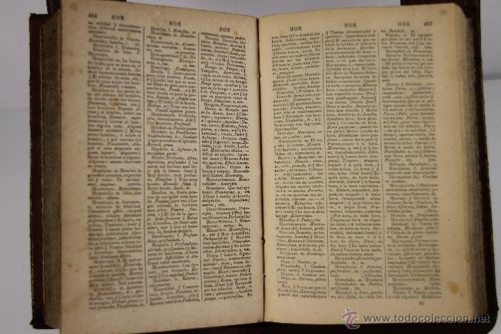 Diccionarios antiguos: 4201- DICCIONARIO ESPAÑOL LATINO / LATINO ESPAÑOL. NOVISIMO VALBUENA. 1865/66.2 TOMOS. - Foto 5 - 40990522
