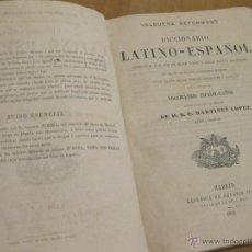 Diccionarios antiguos: DICCIONARIO LATINO ESPAÑOL VALBUENA. 1865. Lote 41447935