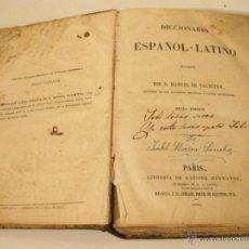 Diccionarios antiguos: DICCIONARIO ESPAÑOL - LATINO. VALBUENA. 1859. Lote 41481537