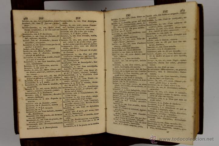 Diccionarios antiguos: 4498- DICTIONARIUM MANUALE LATINO HISPANIUM. STEPHANO XIMENEZ. TYP. REGIA. 1808. - Foto 2 - 41522239