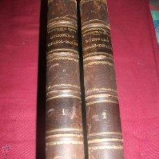 Diccionarios antiguos: 2 TOMOS DICCIONARIO INGLES ESPAÑOL PRONUNCIACION DE LAS LENGUAS INGLESA ESPAÑOLA 1857. Lote 41606116