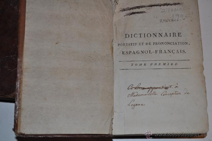 Diccionarios antiguos: Dictionnaire Portatif et de Prononciation, Espagnol-Français J. L. BARTHELEMI CORMON RM64826-V - Foto 3 - 41670206