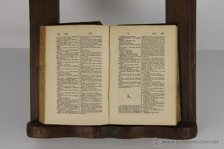 Diccionarios antiguos: D-054. COMPENDIO DEL DICCIONARIO NACIONAL. R.J. DOMINGUEZ. IMP. DEL BANCO INDUSTRIAL. 1865. 2 TOMOS - Foto 3 - 41727682