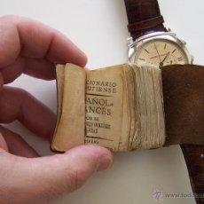 Diccionarios antiguos: DIMINUTO DICCIONARIO LILIPUTIENSE ESPAÑOL-FRANCES 1915 5 CM X 3,5 CM. Lote 42004103