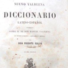 Diccionarios antiguos: NUEVO VALBUENA Ó DICCIONARIO LATINO ESPAÑOL. 1857. Lote 42987779