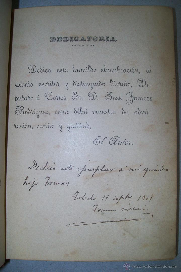 Diccionarios antiguos: DICCIONARIO FRASEOLÓGICO TOMÁS VILLAR Y SOTO TOLEDO RAFAEL G. MENOR 1901 FIRMADO - Foto 4 - 38890056