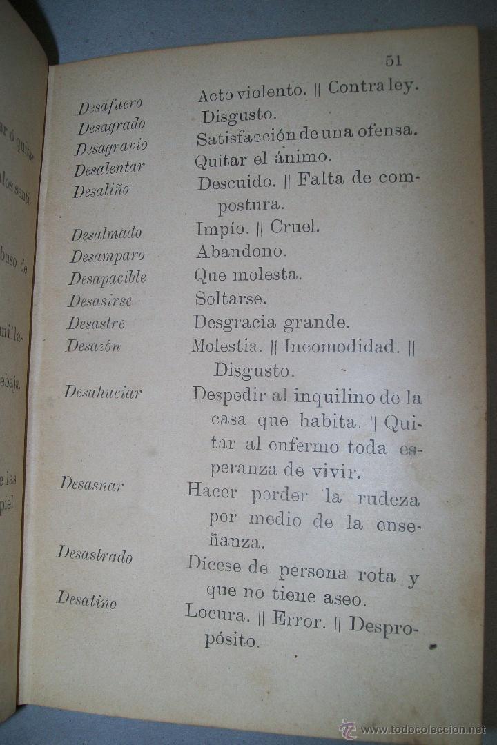 Diccionarios antiguos: DICCIONARIO FRASEOLÓGICO TOMÁS VILLAR Y SOTO TOLEDO RAFAEL G. MENOR 1901 FIRMADO - Foto 6 - 38890056
