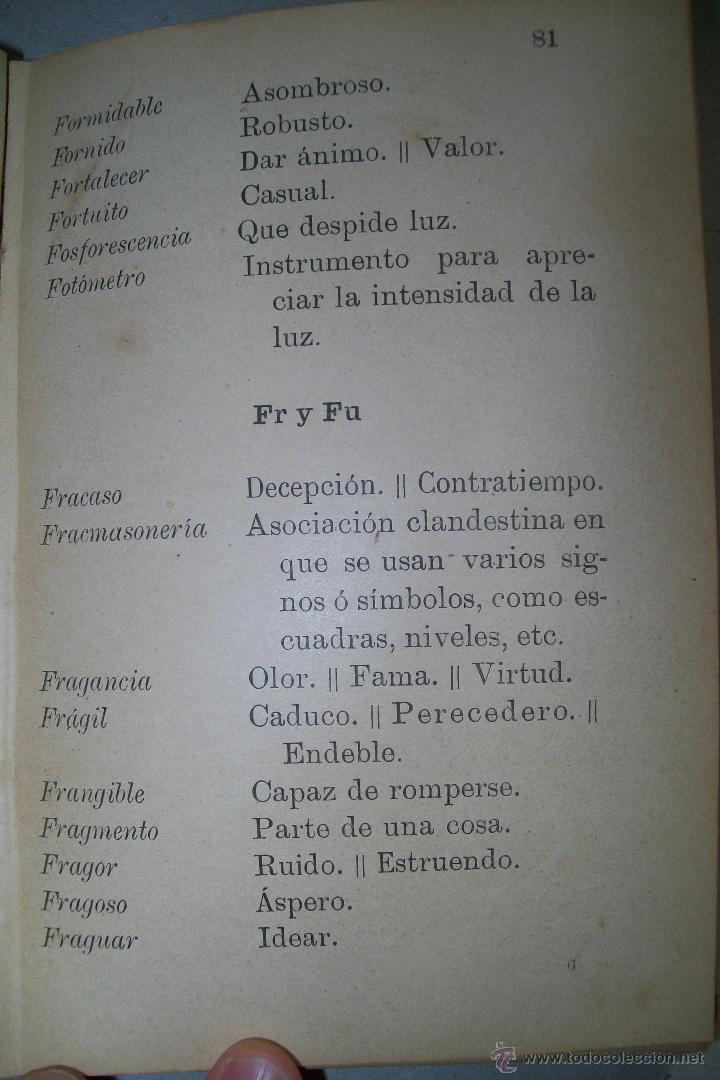 Diccionarios antiguos: DICCIONARIO FRASEOLÓGICO TOMÁS VILLAR Y SOTO TOLEDO RAFAEL G. MENOR 1901 FIRMADO - Foto 8 - 38890056