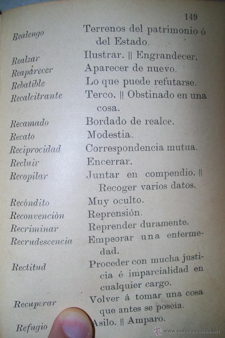Diccionarios antiguos: DICCIONARIO FRASEOLÓGICO TOMÁS VILLAR Y SOTO TOLEDO RAFAEL G. MENOR 1901 FIRMADO - Foto 10 - 38890056